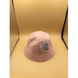 Chapéu rosa redondo