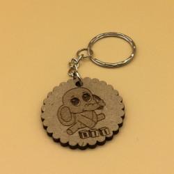 Porta-chaves em mdf natural ELI V1